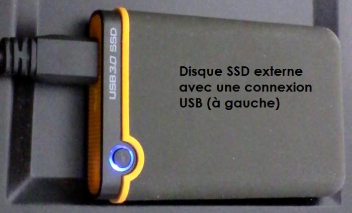 Sauvegarder les fichiers sur un disque SSD externe