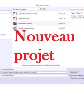 Écrire un programme CSharp