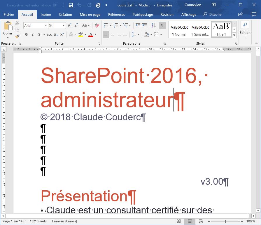 Convertir un PowerPoint en Word
