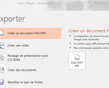 Exporter PowerPoint vers Word