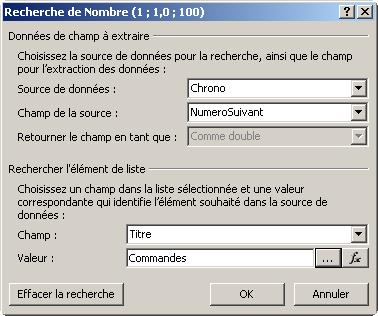 Modification de la colonne à incrémentation automatique NumeroOrdre