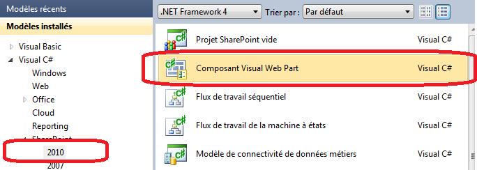 Développer un WebPart visuel pour SharePoint