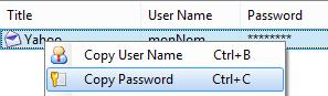 Copie du mot de passe sans le connaître