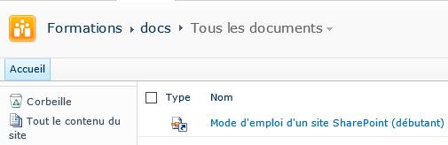 Lien vers un document résultat