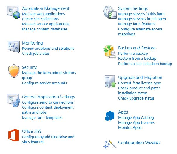 Installer SharePoint 2016