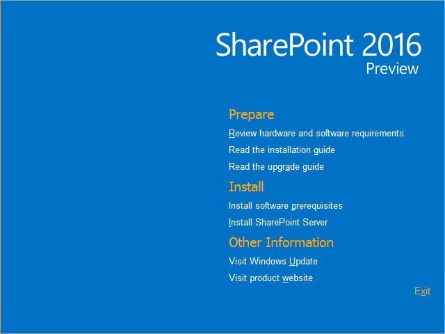 SharePoint 2016 Preview