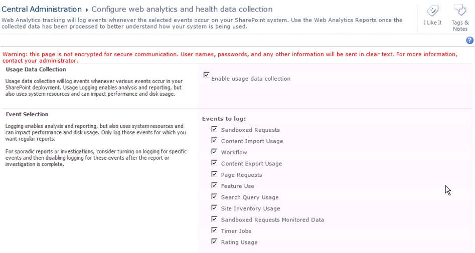 Configuration de web analytics et health data
