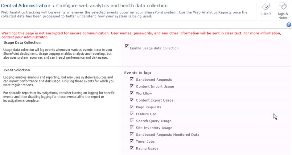 Configuration de web analytics et health data