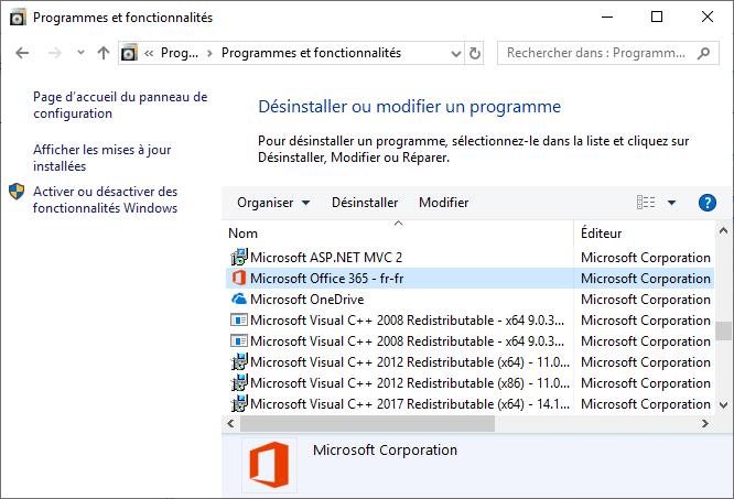 Programme Microsoft Office 365 - fr-fr