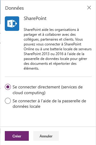 Connexion à SharePoint