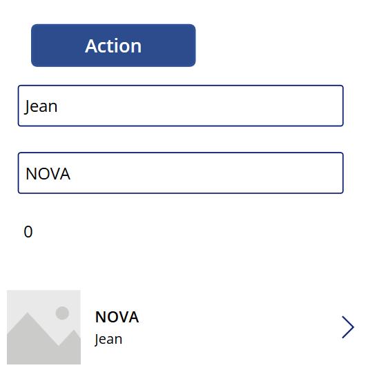 Action du bouton