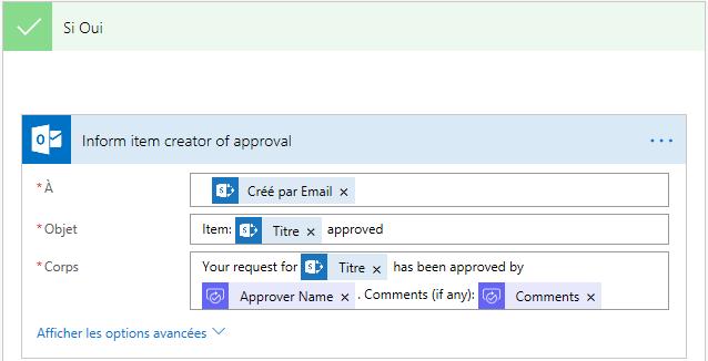 Email lors de l'acceptation de la nouvelle demande