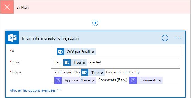Email lors du refus de la nouvelle demande