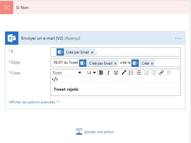 Email de refus