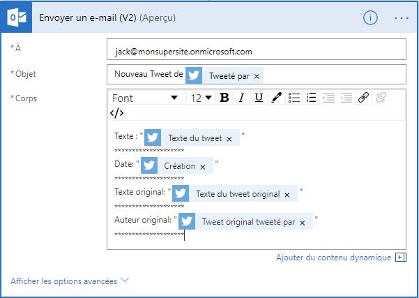 Email préparé