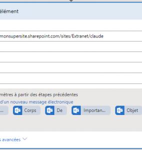 Provisionnement de la liste SharePoint