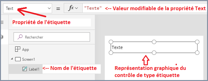 Contrôles Power Apps