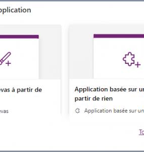 Créer ma propre application Power Apps