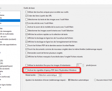 Activer les vignettes d'aperçu PDF dans l'Explorateur Windows