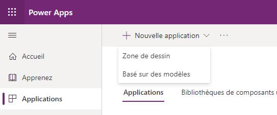 Création d'une application basée sur un modèle