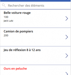 Liste avec formatage conditionnel
