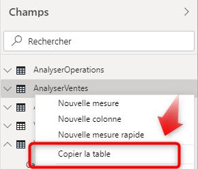 Copier la table