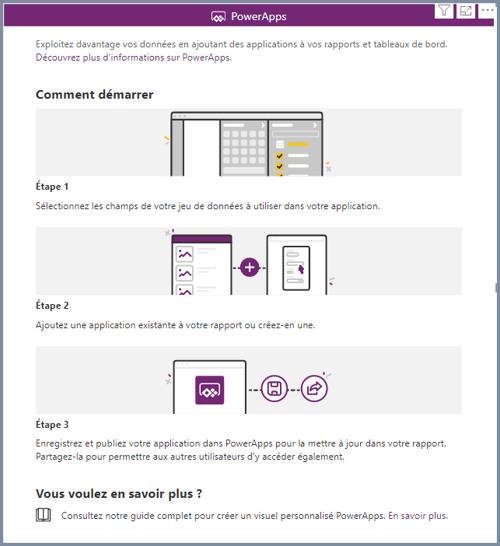 Guide d'intégration de Power Apps dans Power BI