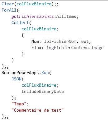 Power Apps JSON Power Automate