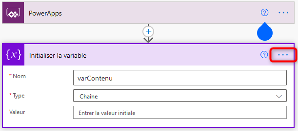 Power Automate Initialiser la variable