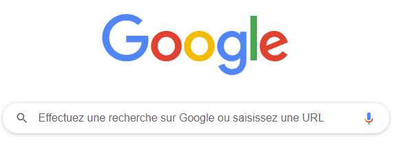 Google Moteur de recherche qui stocke vos recherches