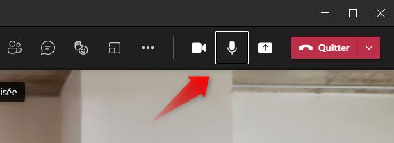 Icône Microphone dans Microsoft Teams