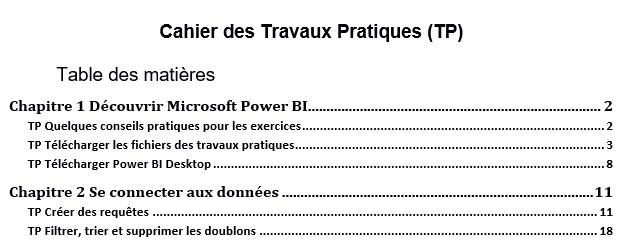 Cahier des Travaux Pratiques
