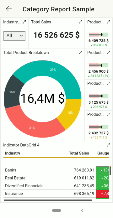 Power BI Mobile Exemple Rapport